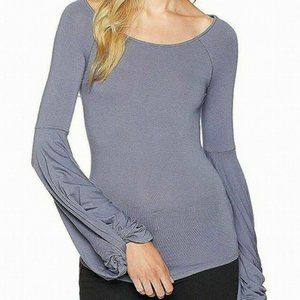 Free People Grey To The Tropics Top S NWT